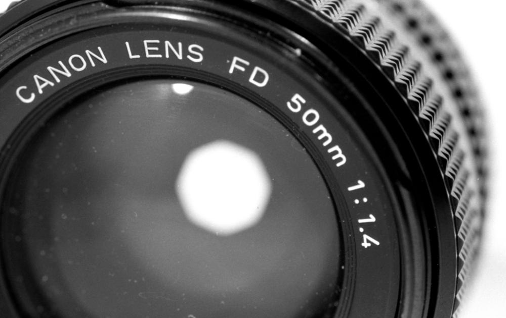 Canon FD 50mm f/1.4 lens
