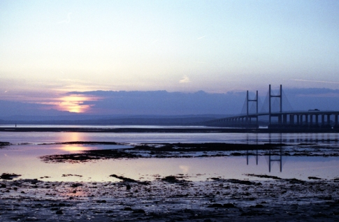 Second Severn Crossing sunset