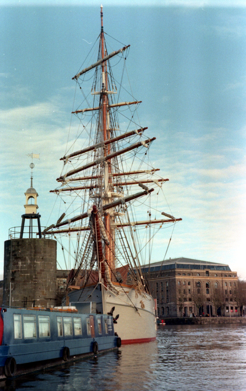 Tall ship in Bristol floating harbour