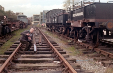 Paul on Bristol dock railway