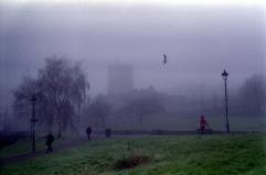Castle Park and church