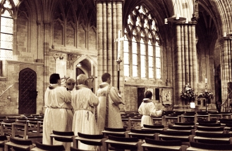 Exeter cathedral procession