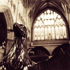 Exeter cathedral golden eagle