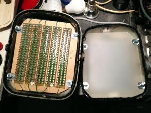 LED enlarger head open