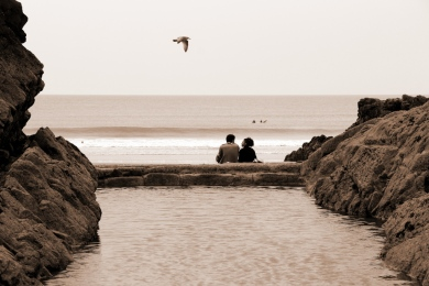 Couple at Bude