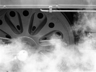 Locomotive wheel detail