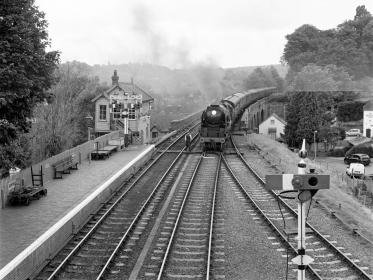 Steam train at Bewdley station
