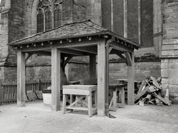 Hereford cathedral masonry workshop