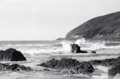 Waves breaking at Croyde