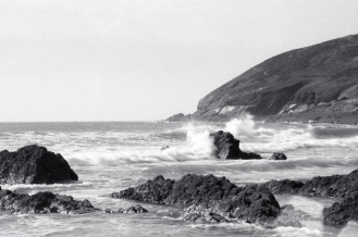 Waves breaking at Croyde