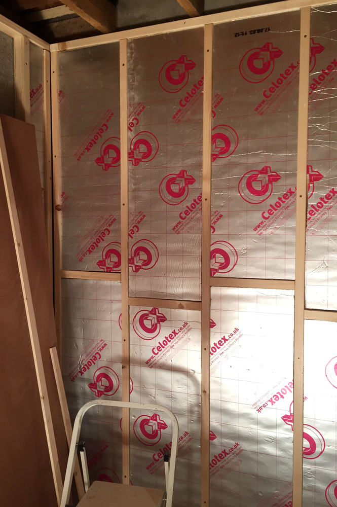 Wall insulation complete