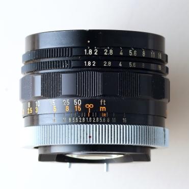 Super-Canomatic R 50mm 1:1.8 II top