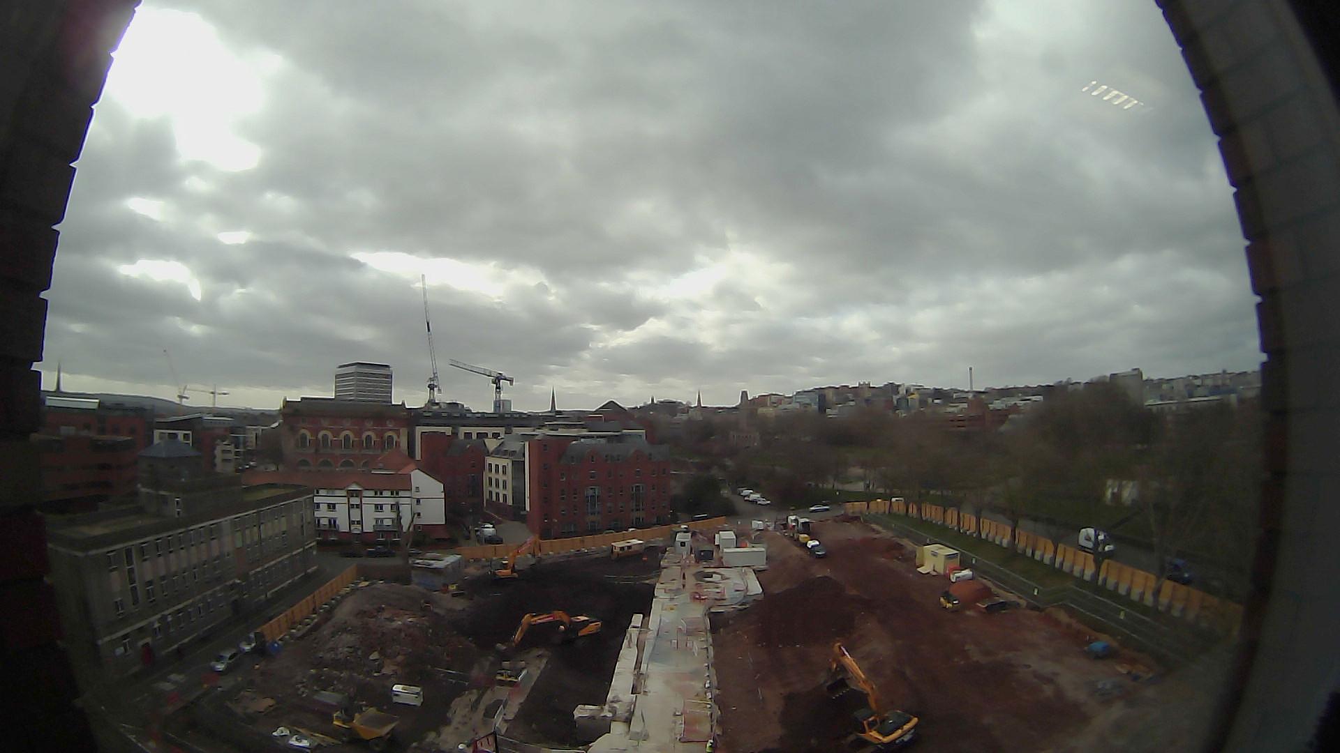 Castle Park View construction site - fisheye view